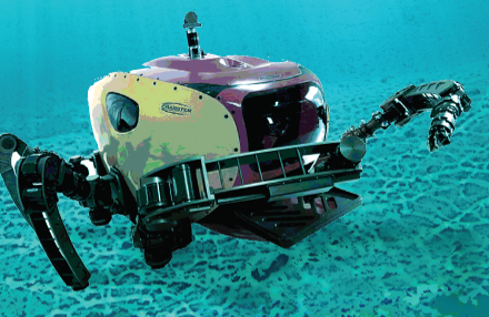 A dexterous crabster robot explores the seafloor